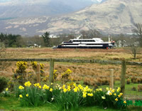 Cruise boat on Caledonian Canal