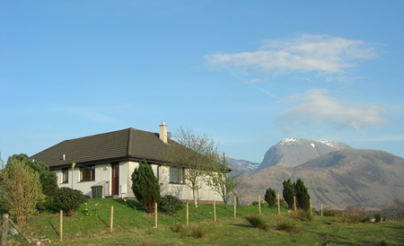 View of Ben Nevis from Lapwing Rise self catering near Fort William